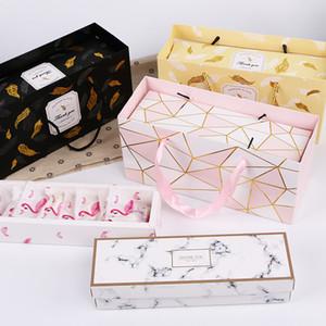 Творческий Фламинго Подарочная Коробка Мраморный Бумажный Мешок Драже Печенье Сумки Свадебные Шоколадный Торт Упаковка Бумажные Коробки Праздничные Принадлежности