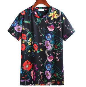 Neue Sommer-T-Shirt für Männer Mode-Blumendruck Designer-T-Shirts beiläufige kurze Hülsen-T-Shirt