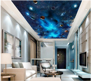 3d ceiling mural wallpaper custom photo Space Milky Way vast starry sky interstellar room home decor 3d wall murals wallpaper for walls 3 d