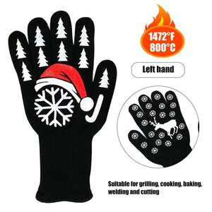 500 Celsius Heat Resistant Gloves Great Hand Kitchen Gloves BBQ Heated Heat-resistant Multi-purpose Cooking Gloves for Christmas