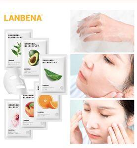 Planta de frutas LANBENA Máscara Facial Fórmula Japón avanzada extracto hidratante de la planta de agua de bloqueo Hoja Máscara cara fresca