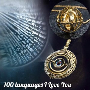 Astronomical Ball Necklace Memory of Love Necklace Inscribed with I Love You in 100 Languages necklaces gift for girlfriend