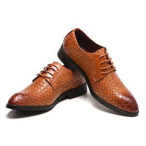 Big Size 38-47 Spring and Autumn Men's Leather Dress Shoes Mens Business Shoes Casual Korean Wedding Shoes