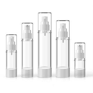 1pcs Transparente Airless bomba Perfume Vácuo Garrafa de Spray Garrafa plástica do curso recarregáveis 15ml / 30ml / 50ml / 80ml / 100ml
