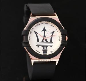 هدية رجل الساعات الأعلى الفاخرة الشهيرة مازيراتي الرجال الذهب سيليكون الساعات الكوارتز التناظرية للماء الرياضة الجيش العسكرية اليد