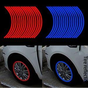 الإبداعية 10 بوصة 17 بوصة لون السيارة الإطارات حافة سيارة ملصقات عاكسة سيارة حلقة الاطارات ملصقات عاكسة جديدة بارد الدائرة المقربة شخصية refl