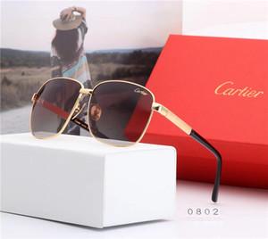 Горячие дизайнерские негабаритные спортивные мужские солнцезащитные очки роскошь восстановление древних солнцезащитных очков мода вождение металлический каркас очки UV400 с коробкой 7 цветов