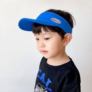 Kinder Cotton Summer Sun Visor Hüte für Jungen-Mädchen-Kleinkind-Kinder UV-Schutz justierbare Kappen-Baby-Fotografie Props Zubehör