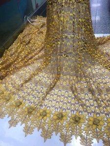 Yeni moda gipür dantel malzeme Fransız kord dantel kumaş Afrika suda çözünür kumaş VRW67 (5yards / lot)