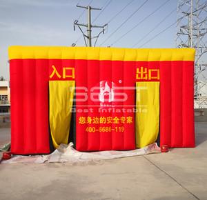 Kinder Feuer Bildung Tunnel Raum Inflatable Flucht Zelt Militär maßgeschneiderte aufblasbare Feuerwürfel Zelt Herstellung Feuerwache Zelt