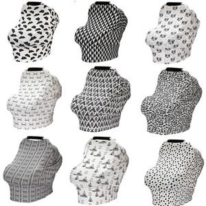 Accesorios de carro de bebé multifunción 33 Diseño Dot Rayas Plaid Flor Impreso Bebé Cubierta de Coche de Tela Fundas de Asiento de Coche