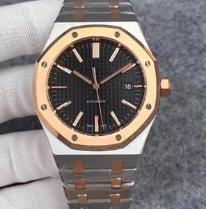 Verkauf ROYAL Luxus-Uhr-Schwarz Dial-Gummiband-Rose Gold Edelstahl Uhren 42mm-Mann-Uhr Multi-Zeitzone Arbeit Relógio invict nautilus