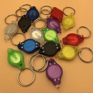 Promosyon Küçük Hediye Moda Anahtarlık Mini Fenerleri Taşınabilir Anahtarlık Erkek Kadın Dayanıklı LED Işık Çok Renkler Anahtarlık BH0154