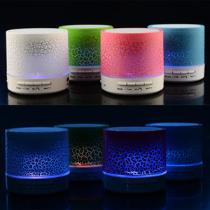 Good Quality A9 Wireless Speaker Led Colored Flash Bluetooth Mini Speakers FM Radio TF Card USB For iPhone 11 Mobile Phone PC S10