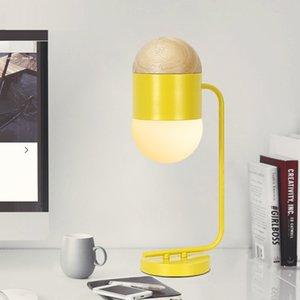 Lámpara de mesa creativa macaron de metal lámpara de mesita de noche habitación de hotel modelo luz de mesa decorativa personalizada - Le106