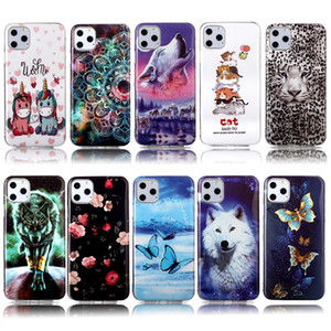 Световая Wolf Tiger мягкая TPU чехол для Iphone 12 11 Pro Max XR XS MAX 8 7 Plus 6 SE 2020 Butterfly Flower Lace Cat Leopard Glow В Dark Cover