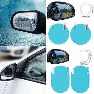 2 pcs set Auto Car Anti Water Mist Film Anti Fog Coating Rainproof Hydrophobic Rearview Mirror Protective Film Free Shipping
