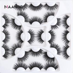 MAANGE 13 أزواج 3D المنك جلدة الرموش الصناعية طويل الأمد فو المنك جلدة ماكياج أدوات رمش تمديد الطبيعية طويل الجمال