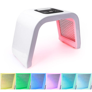 Pro 7 Cores LED Photon Máscara Light Therapy PDT Lamp Tratamento de Beleza Máquina pele Aperte Acne facial removedor Anti-rugas