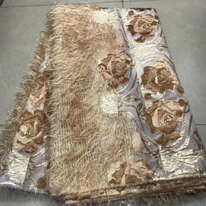 Последние 2020 Brocade ткань шнурка African Жаккардовая ткань шнурка высокого качества Нигерийский французский тюль кружева для партии свадьбы