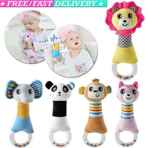 Nouveau design Bells main en peluche bébé Jouet animal Hochet Jouets de haute qualité Newbron cadeau Animal Style