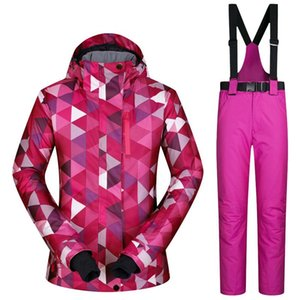 Ski Suit Female Windproof Waterproof Thicken Clothes for Women Snowboard Jacket and Pants Brand Coat and Trousers Winter Wear