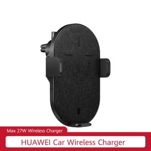 Original HUAWEI sem fio Car Charger 27W sobrecarregar rápida sem fio Suporte Carregador para IOS Android