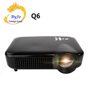 2019 NEW ByJoTeCH Q6 5000 Lumen Home Theater volle 1080P 4K 2K Android-Projektor Beamer Unterstützungs-USB-HDMI Proyector WIFI