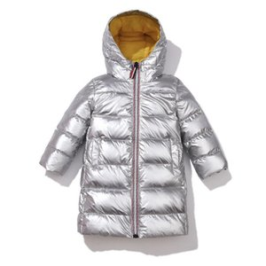 Shiny Girls Down Parkas Winter Girl Warm Jackets Kid Fashion Thicken Long Outerwear for Baby Boys Children Coat Clothes