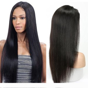 Silky Straight Cuticle Aligned Human Hair 360 Full Lace Frontal Wigs With Baby Hair 24 Inch Pre Plucked Brazilian Virgin Hair