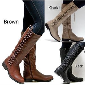 Hot Sale-Fashion Damen Stiefel Schnürschuhe Overknee Stiefel Damen Winter Schnee Bota Damen Winter Schuhe Schuhe Botas Mujer