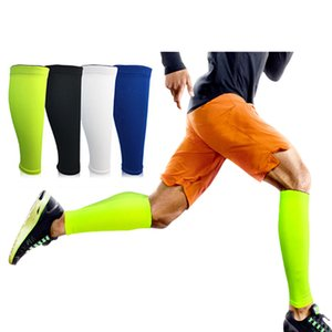 25pc Uomini Ciclismo Scaldamuscoli compressione Parastinchi Esecuzione Leg manica Calcio Basket Vitello Maniche sicurezza nello sport