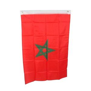 3X5 모로코 국기 국립 매달려 150X90CM 플래그 높은 품질 폴리 에스터 직물, 무료 배송, 어떤 디자인 어떤 로고