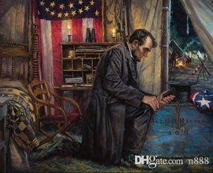 Nathan Greene NOWHERE ELSE TO GO Abraham Lincoln Union Civil War HD Print Wall Art Oil Painting On Canvas Multi Sizes p247 200315