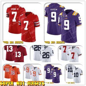 5-24 NCAA 7 Dwayne Haskins Jr 9 Joe Burrow Clemson Tigers College Football Jersey Matt Ryan Julio Jones Todd Gurley Ridley Deion Sanders