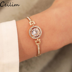 Nouveau À La Mode strass Zircon Bracelet Bracelet De Haute Qualité Strass Charme Bracelets pour Femmes Filles Cadeau En Gros Bijoux
