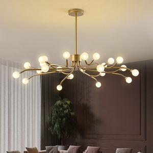 Palla di vetro Modern Living Room Chandelier Lighting Art Decor Light Fixture Nordic Lampada lampadario Apparecchio Lampara