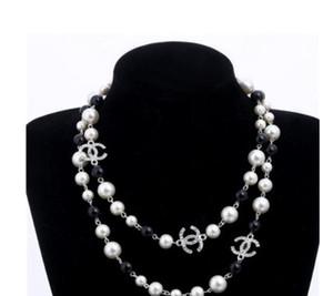 жемчуг натуральный жемчуг белый бисер ожерелье для женщин Длинный свитер цепи Colar ювелирные изделия