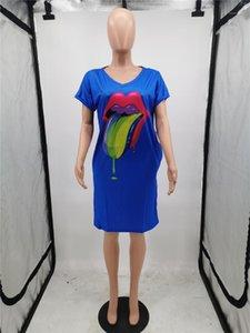 Flora Stampato Abiti Donna Sopra Il Ginocchio Abbigliamento Donna Designer Sexy Dress Women V Neck Dress Femminile