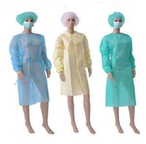 One Piece étanche à la poussière Salopettes Temps Respirant Nonwoven jetables Vêtements de protection Accueil Utilisez costumes OOA7767