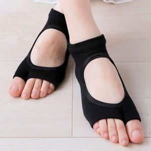 Yeni 6 pairs kadın Anti kayma çorap Iki ayak spor Pamuk Pilates çorap havalandırma çabuk kuru Bale Professiona dans çorap