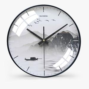 Horloge en verre chinois ménage muet salon chambre moderne décoratif Vagetable Wall Watch Quartz Horloges rondes