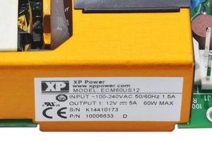 الأصلي XP الطاقة ECM60US12 التبديل الطاقة 100-240 فولت 12 فولت 5a 60 واط 10006633 it امدادات الطاقة الطبية استبدال حقيقي dc الإدخال poe ecm