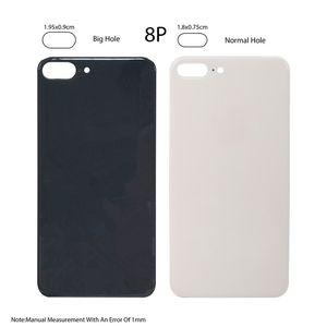 الجديدة من السهل تغيير الغطاء الخلفي الزجاج الخلفي الإسكان للحصول على اي فون X 8 زائد 8P استبدال البطارية باب الجسم لاصق مع 20PCS حفرة كبيرة