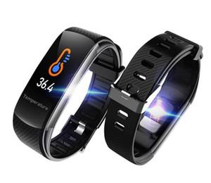 New 2020 Thermomètre Trending tactile montre étanche Smartwatches C6T C6T Smartwatch Fitness Tracker Sport Montre Bluetooth Bracelet intelligent