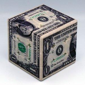 신제품 정보 개발 통화 미국 달러 및 영국 파운드 3 차 루빅 큐브 퍼즐 창조적 인 선물 장난감