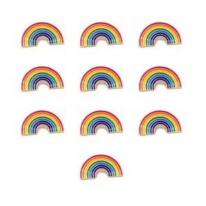 Kelebek Toka Rozeti Festivali Yarım Daire Gökkuşağı Broş Demir Malzeme Pişirme Boya Rainbows Stil Rozetleri Yeni Varış 1 5bt L1