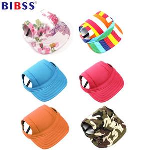 Boné de beisebol de Verão Pet Dog Hat Cap Dog Outdoor Canvas pequeno protetor solar Acessórios