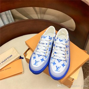 Treinador do New Women sneakers Stellar sneaker designer de moda Sapatos Mulheres Rosa Graffiti Azul Couro Plataforma Sneakers 35-41