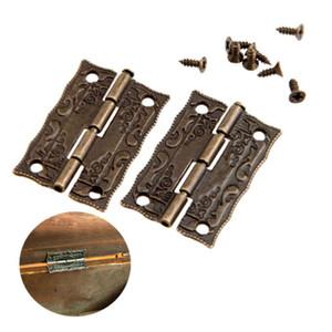 Cabinet Cardini porta cerniere per DIY di sicurezza per mobili Cerniere con viti 4 fori Bag Accessori tono del bronzo